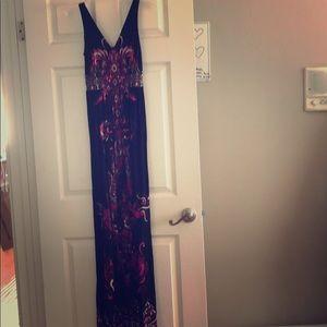 Long black and pink dress